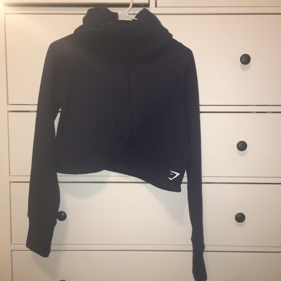 Gymshark Tops - Gymshark Slouch Cropped Hoodie Medium